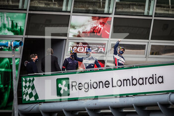 11/10/2020 - Hanson Phil (gbr), Albuquerque Filipe (prt), United Autosport, Oreca 07 Gibson, vainqueur, winner during the 2020 4 Hours of Monza, 4th round of the 2020 European Le Mans Series, from October 9 to 11, 2020 on the Autodromo Nazionale di Monza, Italy - Photo Thomas Fenetre / DPPI - 4 HOURS OF MONZA, 4TH ROUND OF THE 2020 EUROPEAN LE MANS SERIES - SUNDAY - ENDURANCE - MOTORI