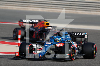 27/03/2021 - 14 ALONSO Fernando (spa), Alpine F1 A521, action during Formula 1 Gulf Air Bahrain Grand Prix 2021 from March 26 to 28, 2021 on the Bahrain International Circuit, in Sakhir, Bahrain - Photo Frédéric Le Floc?h / DPPI - FORMULA 1 GULF AIR BAHRAIN GRAND PRIX 2021 - FORMULA 1 - MOTORI