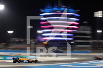 27/03/2021 - NORRIS Lando (gbr), McLaren MCL35M, action during Formula 1 Gulf Air Bahrain Grand Prix 2021 from March 26 to 28, 2021 on the Bahrain International Circuit, in Sakhir, Bahrain - Photo Frédéric Le Floc?h / DPPI - FORMULA 1 GULF AIR BAHRAIN GRAND PRIX 2021 - FORMULA 1 - MOTORI