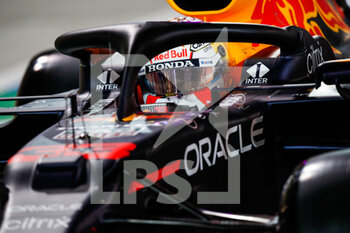 27/03/2021 - VERSTAPPEN Max (ned), Red Bull Racing Honda RB16B, action during Formula 1 Gulf Air Bahrain Grand Prix 2021 from March 26 to 28, 2021 on the Bahrain International Circuit, in Sakhir, Bahrain - Photo Florent Gooden / DPPI - FORMULA 1 GULF AIR BAHRAIN GRAND PRIX 2021 - FORMULA 1 - MOTORI