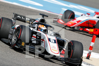 28/03/2021 - 09 Lundgaard Christian (dnk), ART Grand Prix, Dallara F2, action during the 1st round of the 2021 FIA Formula 2 Championship from March 26 to 28, 2021 on the Bahrain International Circuit, in Sakhir, Bahrain - Photo Frédéric Le Floc?h / DPPI - 1ST ROUND OF THE 2021 FIA FORMULA 2 CHAMPIONSHIP - FORMULA 2 - MOTORI