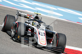 28/03/2021 - 10 Pourchaire Théo (fra), ART Grand Prix, Dallara F2, action during the 1st round of the 2021 FIA Formula 2 Championship from March 26 to 28, 2021 on the Bahrain International Circuit, in Sakhir, Bahrain - Photo Frédéric Le Floc?h / DPPI - 1ST ROUND OF THE 2021 FIA FORMULA 2 CHAMPIONSHIP - FORMULA 2 - MOTORI