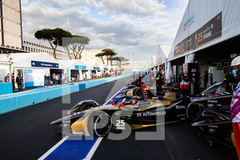 10/04/2021 - 25 Vergne Jean-Eric (fra), DS Techeetah, DS E-Tense FE20, action 13 Da Costa Antonio Felix (por), DS Techeetah, DS E-Tense FE20, action during the 2021 Rome ePrix, 3rd round of the 2020-21 Formula E World Championship, on the Circuito Cittadino dell'EUR from April 9 to 11, in Rome, Italy - Photo Germain Hazard / DPPI - 2021 ROME EPRIX, 3RD ROUND OF THE 2020-21 FORMULA E WORLD CHAMPIONSHIP - FORMULA E - MOTORI