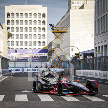 10/04/2021 - 23 Buemi Sébastien (swi), Nissan e.dams, Nissan IM02, action during the 2021 Rome ePrix, 3rd round of the 2020-21 Formula E World Championship, on the Circuito Cittadino dell'EUR from April 9 to 11, in Rome, Italy - Photo François Flamand / DPPI - 2021 ROME EPRIX, 3RD ROUND OF THE 2020-21 FORMULA E WORLD CHAMPIONSHIP - FORMULA E - MOTORI