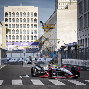 10/04/2021 - 22 Rowland Oliver (gbr), Nissan e.dams, Nissan IM02, action during the 2021 Rome ePrix, 3rd round of the 2020-21 Formula E World Championship, on the Circuito Cittadino dell'EUR from April 9 to 11, in Rome, Italy - Photo François Flamand / DPPI - 2021 ROME EPRIX, 3RD ROUND OF THE 2020-21 FORMULA E WORLD CHAMPIONSHIP - FORMULA E - MOTORI