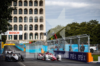 10/04/2021 - 71 Nato Norman (fra), ROKiT Venturi Racing, Mercedes-Benz EQ Silver Arrow 02, action 06 Muller Nico (ger), Dragon / Penske Autosport, Penske EV-5, action during the 2021 Rome ePrix, 3rd round of the 2020-21 Formula E World Championship, on the Circuito Cittadino dell'EUR from April 9 to 11, in Rome, Italy - Photo Germain Hazard / DPPI - 2021 ROME EPRIX, 3RD ROUND OF THE 2020-21 FORMULA E WORLD CHAMPIONSHIP - FORMULA E - MOTORI