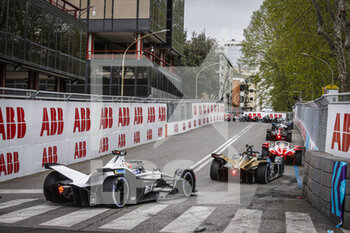 10/04/2021 - Cars on track action during the 2021 Rome ePrix, 3rd round of the 2020-21 Formula E World Championship, on the Circuito Cittadino dell'EUR from April 9 to 11, in Rome, Italy - Photo François Flamand / DPPI - 2021 ROME EPRIX, 3RD ROUND OF THE 2020-21 FORMULA E WORLD CHAMPIONSHIP - FORMULA E - MOTORI