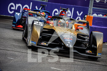 10/04/2021 - 25 Vergne Jean-Eric (fra), DS Techeetah, DS E-Tense FE20, action during the 2021 Rome ePrix, 3rd round of the 2020-21 Formula E World Championship, on the Circuito Cittadino dell'EUR from April 9 to 11, in Rome, Italy - Photo Germain Hazard / DPPI - 2021 ROME EPRIX, 3RD ROUND OF THE 2020-21 FORMULA E WORLD CHAMPIONSHIP - FORMULA E - MOTORI