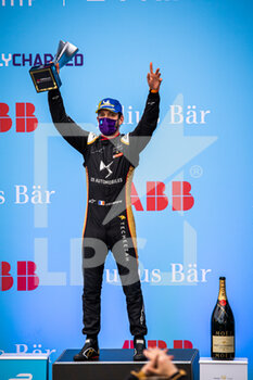 10/04/2021 - VERGNE Jean-Eric (fra), DS Techeetah, DS E-Tense FE20, portrait podium during the 2021 Rome ePrix, 3rd round of the 2020-21 Formula E World Championship, on the Circuito Cittadino dell'EUR from April 9 to 11, in Rome, Italy - Photo Germain Hazard / DPPI - 2021 ROME EPRIX, 3RD ROUND OF THE 2020-21 FORMULA E WORLD CHAMPIONSHIP - FORMULA E - MOTORI