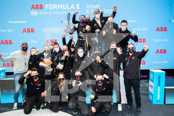 10/04/2021 - team picture VERGNE Jean-Eric (fra), DS Techeetah, DS E-Tense FE20, portrait podium during the 2021 Rome ePrix, 3rd round of the 2020-21 Formula E World Championship, on the Circuito Cittadino dell'EUR from April 9 to 11, in Rome, Italy - Photo Germain Hazard / DPPI - 2021 ROME EPRIX, 3RD ROUND OF THE 2020-21 FORMULA E WORLD CHAMPIONSHIP - FORMULA E - MOTORI