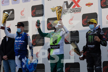 "14/03/2021 - Podium of Supercampione race in a Mantova event of Internazionali d'Italia series. - MX INTERNAZIONALI D'ITALIA 2021 - ""SUPERCAMPIONE"" CATEGORY - MOTOCROSS - MOTORI"