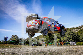 10/10/2020 - 08 TANAK Ott (EST), JARVEOJA Martin (EST), Hyundai i20 Coupe WRC, Hyundai Shell Mobis WRT, action during the 2020 Rally Italia Sardegna, 6th round of the 2020 FIA WRC Championship from October 8 to 11, 2020 at Alghero, Sardegna in Italy - Photo Paulo Maria / DPPI - RALLY DI SARDEGNA - 6TH ROUND OF THE 2020 FIA WRC CHAMPIONSHIP  - RALLY - MOTORI