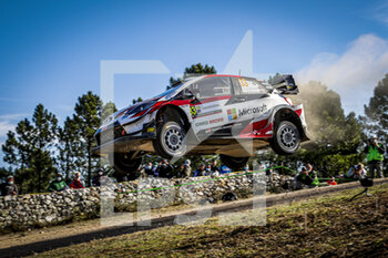 10/10/2020 - 33 EVANS Elfyn (GBR), MARTIN Scott (GBR), Toyota Yaris WRC, Toyota Gazoo Racing WRT, action during the 2020 Rally Italia Sardegna, 6th round of the 2020 FIA WRC Championship from October 8 to 11, 2020 at Alghero, Sardegna in Italy - Photo Paulo Maria / DPPI - RALLY DI SARDEGNA - 6TH ROUND OF THE 2020 FIA WRC CHAMPIONSHIP  - RALLY - MOTORI
