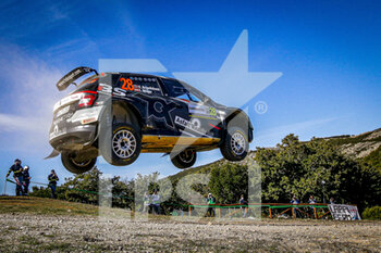 10/10/2020 - 28 Eyvind BRYNILDSEN (NOR), Ilka MINOR (aut), TOKSPORT WRT, SKODA Fabia Evo, WRC 2, action during the 2020 Rally Italia Sardegna, 6th round of the 2020 FIA WRC Championship from October 8 to 11, 2020 at Alghero, Sardegna in Italy - Photo Paulo Maria / DPPI - RALLY DI SARDEGNA - 6TH ROUND OF THE 2020 FIA WRC CHAMPIONSHIP  - RALLY - MOTORI