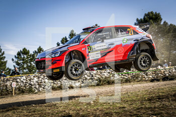 10/10/2020 - 27 VEIBY Ole Christian (NOR), ANDERSSON Jonas (SWE), Hyundai i20 R5, Hyundai Motorsport N WRC 2, action during the 2020 Rally Italia Sardegna, 6th round of the 2020 FIA WRC Championship from October 8 to 11, 2020 at Alghero, Sardegna in Italy - Photo Paulo Maria / DPPI - RALLY DI SARDEGNA - 6TH ROUND OF THE 2020 FIA WRC CHAMPIONSHIP  - RALLY - MOTORI
