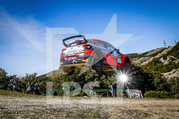 10/10/2020 - 26 GRYAZIN Nicolay (RUS), FEDOROV Yaroslav (RUS), Hyundai i20 R5, Hyundai Motorsport N WRC 2, action during the 2020 Rally Italia Sardegna, 6th round of the 2020 FIA WRC Championship from October 8 to 11, 2020 at Alghero, Sardegna in Italy - Photo Paulo Maria / DPPI - RALLY DI SARDEGNA - 6TH ROUND OF THE 2020 FIA WRC CHAMPIONSHIP  - RALLY - MOTORI