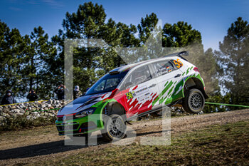 10/10/2020 - 56 Pierrat Bertrand, Chevalier Aur..lia, Volkswagen Polo GTI R5, action during the 2020 Rally Italia Sardegna, 6th round of the 2020 FIA WRC Championship from October 8 to 11, 2020 at Alghero, Sardegna in Italy - Photo Paulo Maria / DPPI - RALLY DI SARDEGNA - 6TH ROUND OF THE 2020 FIA WRC CHAMPIONSHIP  - RALLY - MOTORI