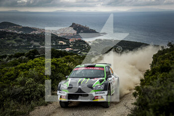 10/10/2020 - 32 SOLBERG Oliver, JOHNNSTON Aaron, Volkswagen Polo GTI R5, action during the 2020 Rally Italia Sardegna, 6th round of the 2020 FIA WRC Championship from October 8 to 11, 2020 at Alghero, Sardegna in Italy - Photo Paulo Maria / DPPI - RALLY DI SARDEGNA - 6TH ROUND OF THE 2020 FIA WRC CHAMPIONSHIP  - RALLY - MOTORI