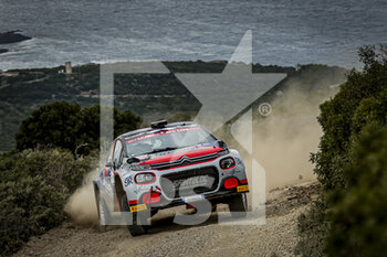 10/10/2020 - 42 Johnston Sean (USA), Kihurani Alexander (USA), SAINTELOC JUNIOR TEAM, Citroen C3 WRC, action during the 2020 Rally Italia Sardegna, 6th round of the 2020 FIA WRC Championship from October 8 to 11, 2020 at Alghero, Sardegna in Italy - Photo Paulo Maria / DPPI - RALLY DI SARDEGNA - 6TH ROUND OF THE 2020 FIA WRC CHAMPIONSHIP  - RALLY - MOTORI