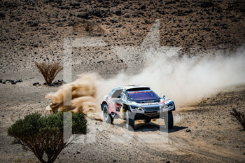 06/01/2021 - 314 Despres Cyril (fra), Horn Mike (swi), Peugeot, PH Sport, Abu Dhabi Racing, Auto, action during the 4th stage of the Dakar 2021 between Wadi Al Dawasir and Riyadh, in Saudi Arabia on January 6, 2021 - Photo Antonin Vincent / DPPI - DAKAR 2021 - 4TH STAGE - WADI AL DAWASIR - RIYADH - RALLY - MOTORI
