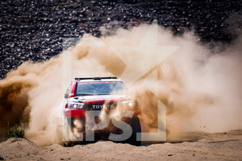 06/01/2021 - 346 Aljafla Khalid (are), Mirza Ali (are), Toyota, Sarab Racing, Auto, action during the 4th stage of the Dakar 2021 between Wadi Al Dawasir and Riyadh, in Saudi Arabia on January 6, 2021 - Photo Frédéric Le Floc'h / DPPI - DAKAR 2021 - 4TH STAGE - WADI AL DAWASIR - RIYADH - RALLY - MOTORI