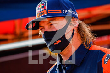 09/01/2021 - Price Toby (aus), KTM, Red Bull KTM Factory Team, Moto, Bike, portrait during the Rest Day of the Dakar 2021 in Ha'il, in Saudi Arabia on January 9, 2021 - Photo Frédéric Le Floc'h / DPPI - DAKAR 2021 - REST DAY - RALLY - MOTORI