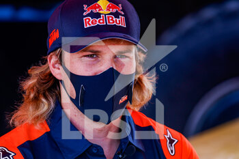 09/01/2021 - Sanders Daniel (aus), KTM, KTM Factory Team, Moto, Bike, portrait during the Rest Day of the Dakar 2021 in Ha'il, in Saudi Arabia on January 9, 2021 - Photo Frédéric Le Floc'h / DPPI - DAKAR 2021 - REST DAY - RALLY - MOTORI