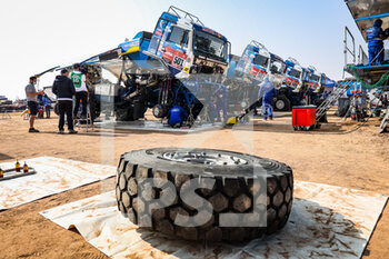 09/01/2021 - Kamaz - Master, Camion, Truck, bivouac during the Rest Day of the Dakar 2021 in Ha'il, in Saudi Arabia on January 9, 2021 - Photo Antonin Vincent / DPPI - DAKAR 2021 - REST DAY - RALLY - MOTORI