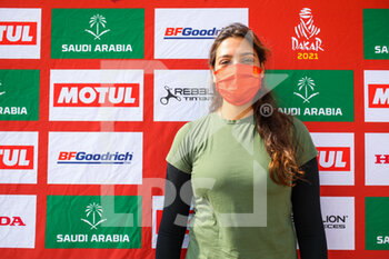 09/01/2021 - Akeel Dania (sau), Saudian female driver who want to take part to the Dakar Rally in 2022 during the Rest Day of the Dakar 2021 in Ha'il, in Saudi Arabia on January 9, 2021 - Photo Julien Delfosse / DPPI - DAKAR 2021 - REST DAY - RALLY - MOTORI