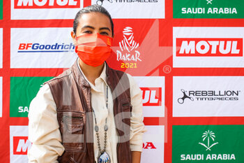 09/01/2021 - Alobaidan Mashael (sau), Saudian female driver who want to take part to the Dakar Rally in 2022 during the Rest Day of the Dakar 2021 in Ha'il, in Saudi Arabia on January 9, 2021 - Photo Julien Delfosse / DPPI - DAKAR 2021 - REST DAY - RALLY - MOTORI