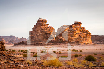 13/01/2021 - landscape, paysage during the 10th stage of the Dakar 2021 between Neom and Al-Ula, in Saudi Arabia on January 13, 2021 - Photo Antonin Vincent / DPPI - 10TH STAGE OF THE DAKAR 2021 BETWEEN NEOM AND ALULA - RALLY - MOTORI