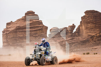 13/01/2021 - 152 Giroud Alexandre (fra), Yamaha, Team Giroud, Quad, action during the 10th stage of the Dakar 2021 between Neom and Al-Ula, in Saudi Arabia on January 13, 2021 - Photo Antonin Vincent / DPPI - 10TH STAGE OF THE DAKAR 2021 BETWEEN NEOM AND ALULA - RALLY - MOTORI