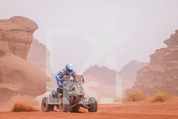 13/01/2021 - 154 Andujar Manuel (arg), Yamaha, 7240 Team, Quad, action during the 10th stage of the Dakar 2021 between Neom and Al-?Ula, in Saudi Arabia on January 13, 2021 - Photo Frédéric Le Floc'h / DPPI - 10TH STAGE OF THE DAKAR 2021 BETWEEN NEOM AND ALULA - RALLY - MOTORI