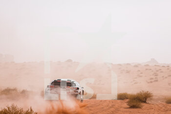 13/01/2021 - 310 Al Qassimi Sheikh Khalid (are), Panseri Xavier (fra), Peugeot, PH Sport, Abu Dhabi Racing, Auto, action during the 10th stage of the Dakar 2021 between Neom and Al-?Ula, in Saudi Arabia on January 13, 2021 - Photo Frédéric Le Floc'h / DPPI - 10TH STAGE OF THE DAKAR 2021 BETWEEN NEOM AND ALULA - RALLY - MOTORI