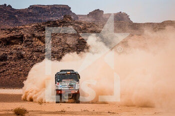 13/01/2021 - 517 Casale Ignacio (chl), Leon Alvaro (chl), Hoffman David (cze), Tatra, Tatra Buggyra Racing, Camion, Truck, action during the 10th stage of the Dakar 2021 between Neom and Al-Ula, in Saudi Arabia on January 13, 2021 - Photo Florent Gooden / DPPI - 10TH STAGE OF THE DAKAR 2021 BETWEEN NEOM AND ALULA - RALLY - MOTORI
