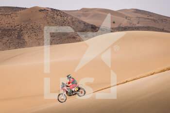 13/01/2021 - 01 Brabec Ricky (usa), Honda, Monster Energy Honda Team 2021, Motul, Moto, Bike, action during the 11th stage of the Dakar 2021 between Al-'Ula and Yanbu, in Saudi Arabia on January 14, 2021 - Photo Frédéric Le Floc'h / DPPI - 10TH STAGE OF THE DAKAR 2021 BETWEEN NEOM AND ALULA - RALLY - MOTORI