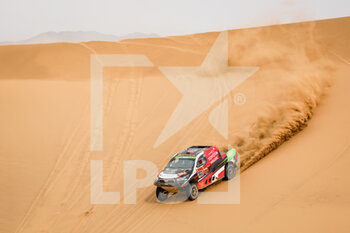 13/01/2021 - 303 Al Rajhi Yazeed (sau), Von Zitzewitz Dirk (deu), Toyota, Overdrive Toyota, Auto, action during the 11th stage of the Dakar 2021 between Al-'Ula and Yanbu, in Saudi Arabia on January 14, 2021 - Photo Frédéric Le Floc'h / DPPI - 10TH STAGE OF THE DAKAR 2021 BETWEEN NEOM AND ALULA - RALLY - MOTORI