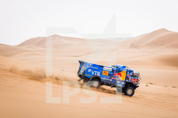 13/01/2021 - 509 Mardeev Airat (rus), Svistunov Dmitriy (rus), Galiautdinov Akhmet (rus), Kamaz, Kamaz - Master, Camion, Truck, action during the 11th stage of the Dakar 2021 between Al-'Ula and Yanbu, in Saudi Arabia on January 14, 2021 - Photo Frédéric Le Floc'h / DPPI - 10TH STAGE OF THE DAKAR 2021 BETWEEN NEOM AND ALULA - RALLY - MOTORI