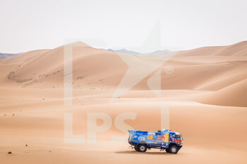 13/01/2021 - 500 Karginov Andrey (rus), Mokeev Andrey (rus), Leonov Igor (rus), Kamaz, Kamaz - Master, Camion, Truck, action during the 11th stage of the Dakar 2021 between Al-'Ula and Yanbu, in Saudi Arabia on January 14, 2021 - Photo Frédéric Le Floc'h / DPPI - 10TH STAGE OF THE DAKAR 2021 BETWEEN NEOM AND ALULA - RALLY - MOTORI