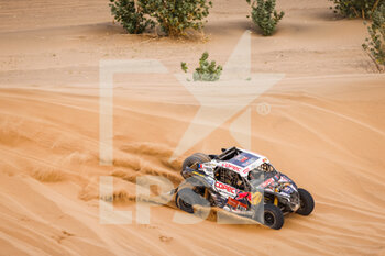 13/01/2021 - 401 Lopez Contardo Francisco (chl), Latrach Vinagre Juan Pablo (chl), Can-Am, South Racing Can-Am, Motul, SSV Series - T4, action during the 11th stage of the Dakar 2021 between Al-'Ula and Yanbu, in Saudi Arabia on January 14, 2021 - Photo Frédéric Le Floc'h / DPPI - 10TH STAGE OF THE DAKAR 2021 BETWEEN NEOM AND ALULA - RALLY - MOTORI