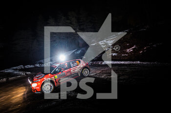 22/01/2021 - 28 Nicolas CIAMIN (FRA), Yannick ROCHE (FRA), CITROËN C3, RC2 Rally2, action during the 2021 WRC World Rally Car Championship, Monte Carlo rally on January 20 to 24, 2021 at Monaco - Photo Bastien Roux / DPPI - 2021 WRC WORLD RALLY CAR CHAMPIONSHIP, MONTE CARLO - FRIDAY - RALLY - MOTORI