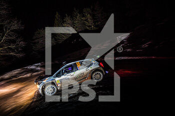 22/01/2021 - 55 Yoann BONATO (FRA), Benjamin BOULLOUD (FRA), CITROEN C3, RC2 Rally2, action during the 2021 WRC World Rally Car Championship, Monte Carlo rally on January 20 to 24, 2021 at Monaco - Photo Bastien Roux / DPPI - 2021 WRC WORLD RALLY CAR CHAMPIONSHIP, MONTE CARLO - FRIDAY - RALLY - MOTORI