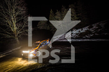 22/01/2021 - 39 Hermann NEUBAUER (AUT), Bernhard ETTEL (AUT), FORD Fiesta, RC2 Rally2, action during the 2021 WRC World Rally Car Championship, Monte Carlo rally on January 20 to 24, 2021 at Monaco - Photo Bastien Roux / DPPI - 2021 WRC WORLD RALLY CAR CHAMPIONSHIP, MONTE CARLO - FRIDAY - RALLY - MOTORI