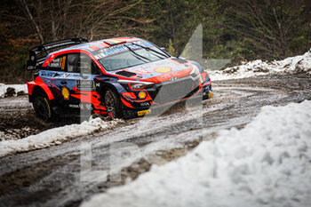 22/01/2021 - 11 Thierry NEUVILLE (BEL), Martijn WYDAEGHE (BEL), HYUNDAI SHELL MOBIS WORLD RALLY TEAM, HYUNDAI I20 Coupé WRC, WRC ,action during the 2021 WRC World Rally Car Championship, Monte Carlo rally on January 20 to 24, 2021 at Monaco - Photo Bastien Roux / DPPI - 2021 WRC WORLD RALLY CAR CHAMPIONSHIP, MONTE CARLO - FRIDAY - RALLY - MOTORI