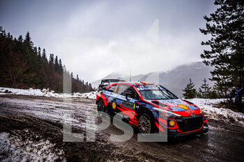 22/01/2021 - 06 Dani SORDO (ESP), Carlos DEL BARRIO (ESP), HYUNDAI SHELL MOBIS WORLD RALLY TEAM, HYUNDAI I20 Coupé WRC, WRC ,action during the 2021 WRC World Rally Car Championship, Monte Carlo rally on January 20 to 24, 2021 at Monaco - Photo Bastien Roux / DPPI - 2021 WRC WORLD RALLY CAR CHAMPIONSHIP, MONTE CARLO - FRIDAY - RALLY - MOTORI