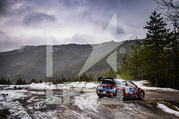 22/01/2021 - 07 Pierre-Louis LOUBET (FRA), Vincent LANDAIS (FRA), HYUNDAI 2C COMPETITION, HYUNDAI, action during the 2021 WRC World Rally Car Championship, Monte Carlo rally on January 20 to 24, 2021 at Monaco - Photo Bastien Roux / DPPI - 2021 WRC WORLD RALLY CAR CHAMPIONSHIP, MONTE CARLO - FRIDAY - RALLY - MOTORI