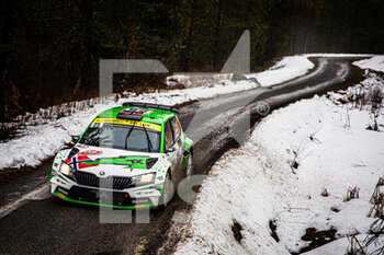 22/01/2021 - 25 Andreas MIKKELSEN (NOR), Ola FLOENE (NOR), TOKSPORT WRT SKODA Fabia Evo, RC2 Rally2, action during the 2021 WRC World Rally Car Championship, Monte Carlo rally on January 20 to 24, 2021 at Monaco - Photo Bastien Roux / DPPI - 2021 WRC WORLD RALLY CAR CHAMPIONSHIP, MONTE CARLO - FRIDAY - RALLY - MOTORI
