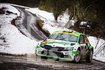 22/01/2021 - 22 Marco BULACIA (BOL), Marcelo OHANNESIAN (ARG), TOKSPORT WRT SKODA Fabia Evo, RC2 Rally2, action during the 2021 WRC World Rally Car Championship, Monte Carlo rally on January 20 to 24, 2021 at Monaco - Photo Bastien Roux / DPPI - 2021 WRC WORLD RALLY CAR CHAMPIONSHIP, MONTE CARLO - FRIDAY - RALLY - MOTORI