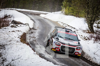 22/01/2021 - 29 Yohan ROSSEL (FRA), Benoit FULCRAND (FRA), CITROEN C3 RC2 Rally2, action during the 2021 WRC World Rally Car Championship, Monte Carlo rally on January 20 to 24, 2021 at Monaco - Photo Bastien Roux / DPPI - 2021 WRC WORLD RALLY CAR CHAMPIONSHIP, MONTE CARLO - FRIDAY - RALLY - MOTORI