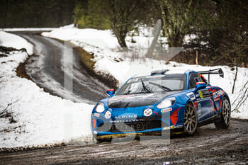 22/01/2021 - 43 Emmanuel GUIGOU (FRA), Alexandre CORIA (FRA), ALPINE A110, RGT RGT cars, action during the 2021 WRC World Rally Car Championship, Monte Carlo rally on January 20 to 24, 2021 at Monaco - Photo Bastien Roux / DPPI - 2021 WRC WORLD RALLY CAR CHAMPIONSHIP, MONTE CARLO - FRIDAY - RALLY - MOTORI